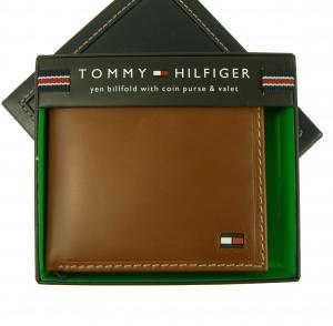 トミーヒルフィガー 財布 メンズ 二つ折(タン)HIGHLAND