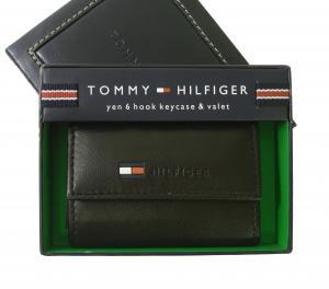 トミーヒルフィガー キーケース メンズ 6連(ブラック)HIGHLAND