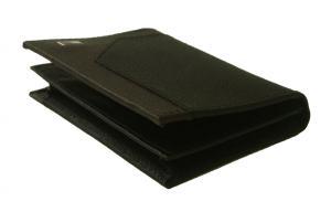 No.4 名刺入れ カードケース メンズ SAFFIANO(ブラック×ブラウン)