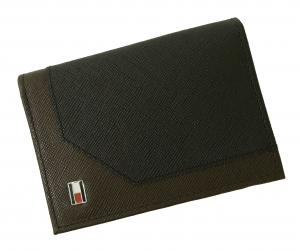 No.6 名刺入れ カードケース メンズ SAFFIANO(ブラック×ブラウン)