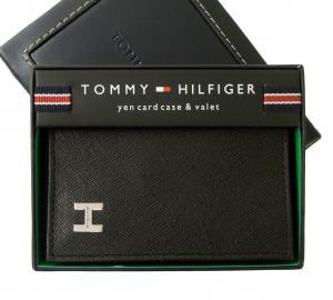 トミーヒルフィガー 名刺入れ カードケース メンズ DUBLIN(ブラック)