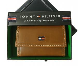 トミーヒルフィガー キーケース 6連 メンズ (タン)HIGHLAND