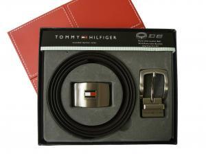 トミーヒルフィガー ベルト メンズ 黒 リバーシブル セット 長さ調整可能 4ウェイ