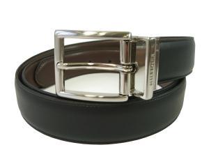 トミーヒルフィガー ベルト メンズ 黒  リバーシブル(ブラック×タン)
