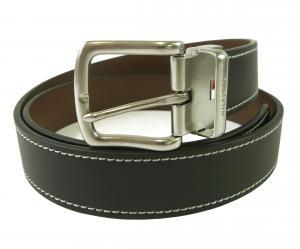 トミーヒルフィガー ベルト メンズ 黒  リバーシブル(ブラック×ブラウン) レザー
