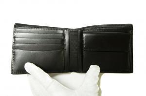 No.4 財布 メンズ  QUANTUM  二つ折り (ブラック)