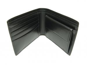 No.5 財布 メンズ  QUANTUM  二つ折り (ブラック)