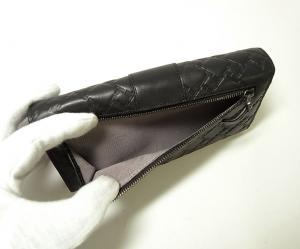 No.4 財布 メンズ TICON  二つ折り 長財布(ブラック)