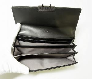 No.5 財布 メンズ TICON  二つ折り 長財布(ブラック)