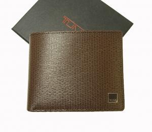 トゥミ 財布 メンズ 二つ折り (ブラウン) 型押しカーフスキン