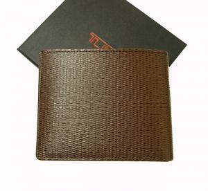 No.2 財布 メンズ 二つ折り (ブラウン) 型押しカーフスキン