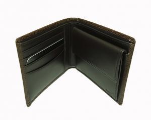 No.5 財布 メンズ 二つ折り (ブラウン) 型押しカーフスキン