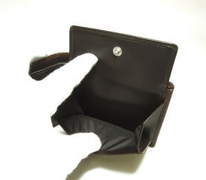 No.7 財布 メンズ 二つ折り (ブラウン) 型押しカーフスキン
