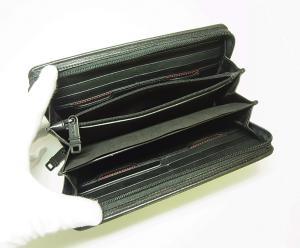No.5 長財布 DELTA メンズ ジップアラウンド トラベル (ブラック)