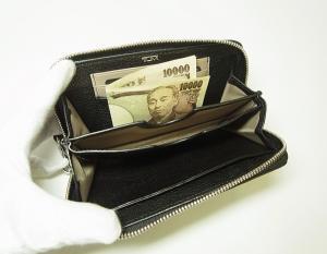No.5 財布  リストレット ラウンドジップミニ 牛革 (ブラック)