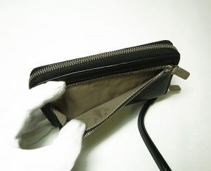 No.6 財布  リストレット ラウンドジップミニ 牛革 (ブラック)