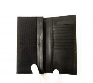 No.4 長財布 メンズ ALPHA 二つ折り (ブラック)