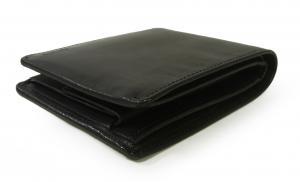 No.3 財布 メンズ (ブラック) チャンバー 二つ折