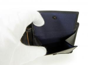 No.6 財布 メンズ (ブラック) チャンバー 二つ折