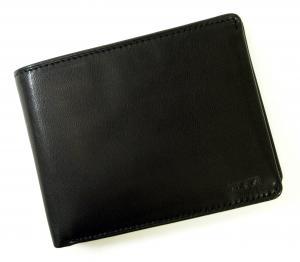 No.7 財布 メンズ (ブラック) チャンバー 二つ折