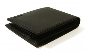 No.3 財布 DELTA メンズ 二つ折り (ブラック)