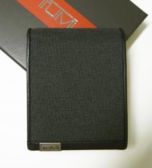トゥミ 財布 メンズ ALPHA  二つ折り (ダークグレー)ファブリック