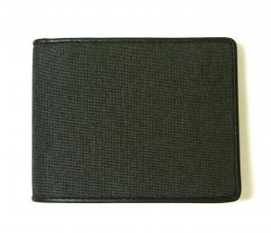 No.2 財布 メンズ ALPHA  二つ折り (ダークグレー)ファブリック