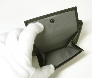 No.6 財布 メンズ ALPHA  二つ折り (ダークグレー)ファブリック