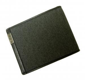 No.7 財布 メンズ ALPHA  二つ折り (ダークグレー)ファブリック