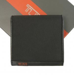 トゥミ 財布 メンズ ALPHA 三つ開き 二つ折(ブラック)バリスティックナイロン