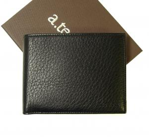 テストーニ 財布 ディアスキン メンズ 二つ折 (ブラック)
