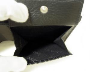 No.7 財布 ディアスキン メンズ 二つ折 (ブラック)