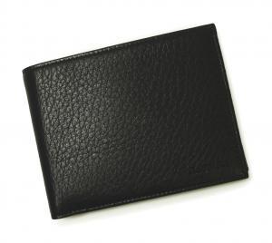 No.8 財布 ディアスキン メンズ 二つ折 (ブラック)