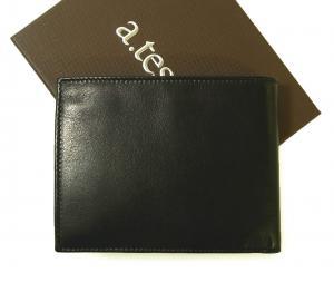 No.2 財布 メンズ 二つ折 ナッパカーフ レザー (ブラック)