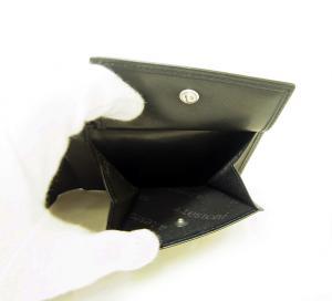 No.5 財布 メンズ 二つ折 ナッパカーフ レザー (ブラック)