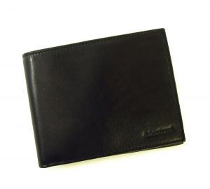 No.6 財布 メンズ 二つ折 ナッパカーフ レザー (ブラック)