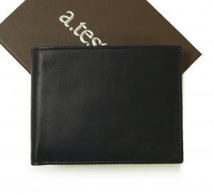 テストーニ 財布 メンズ 二つ折 (ネイビーブルー) 子牛革