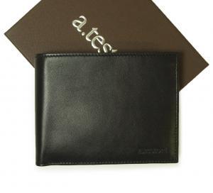 テストーニ  <訳あり・アウトレット>財布 メンズ 二つ折 (ブラック)