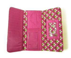 No.4 財布 Trifold トリフォールドウォレット(Pink Swirls)