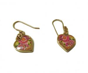 No.2 ピアス ハートドロップ Heart Drop Earrings (Clementine)