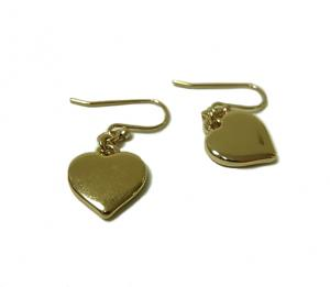 No.3 ピアス ハートドロップ Heart Drop Earrings (Clementine)