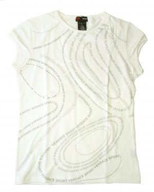 ジャンニヴェルサーチ Tシャツ レディス  スポーツ  (ホワイト) Lサイズ
