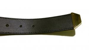 No.6 クロコ型押しメンズベルト(ブラック)80cm