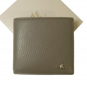 ヴィヴィアンウエストウッド 財布 二つ折り メンズ グレー オーブ ミラノ MILANO MainPhoto