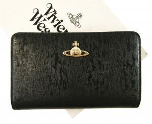 ヴィヴィアンウエストウッド 財布 レディース ブラック SAFFIANO 7314 *札入れなし