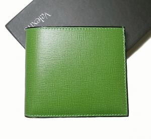 ヴァレクストラ 財布 二つ折 (グラスグリーン)