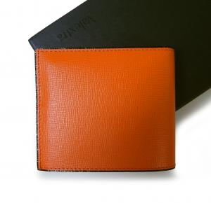 No.2 財布 メンズ 二つ折 (オレンジ)