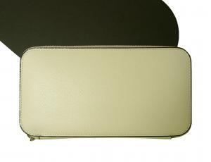 ヴァレクストラ 長財布 ラウンドファスナー (ホワイト)ゴールド色金具