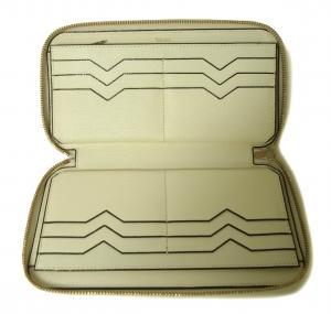 No.4 長財布 ラウンドファスナー (ホワイト)ゴールド色金具