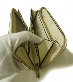 No.5 長財布 ラウンドファスナー (ホワイト)ゴールド色金具